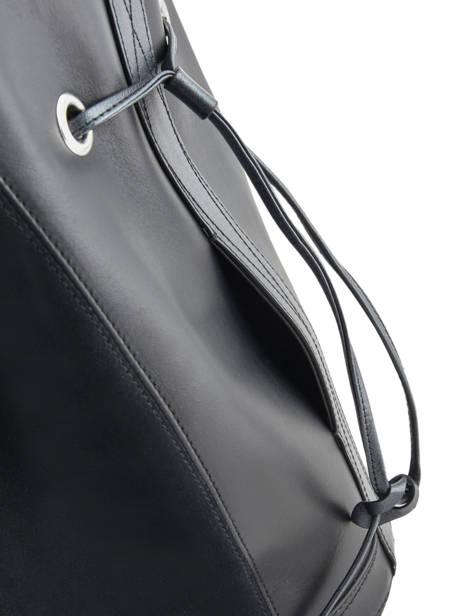 Sac Bourse M Le Huit Suède Lancel Noir le huit A09146 vue secondaire 2
