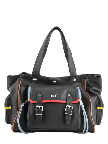 Sac Shopping Luxembourg Cuir Sonia rykiel Noir luxembourg 2296-41