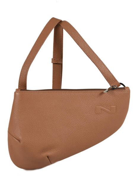 Sac Bandoulière City Perle Nathan baume Marron n city N1811000