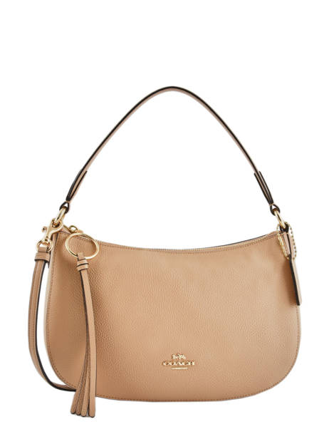 Cross Body Tas Sutton Leder Coach Beige sutton 52548