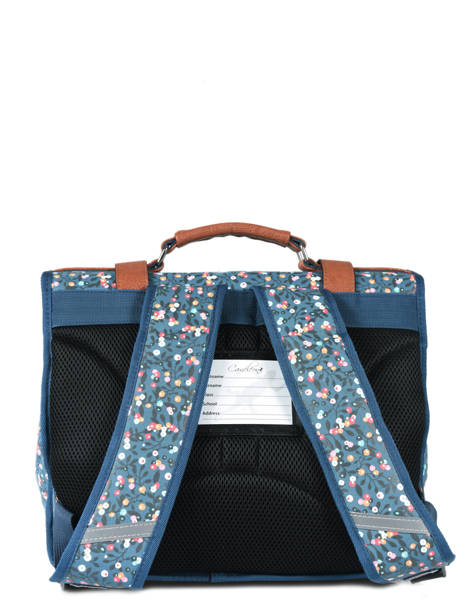 Cartable Fille 2 Compartiments Cameleon Bleu vintage print girl VIG-CA35 vue secondaire 4