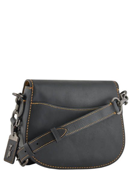 Sac Bandoulière Saddle Bag Coach Noir saddle bag 54202 vue secondaire 4