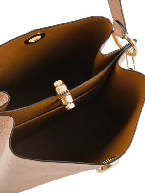 Bucket Bag Charlie Leder Coach Beige charlie 55200 ander zicht 5