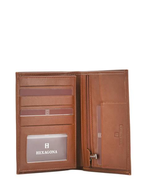 Portefeuille Cuir Hexagona Marron soft 221013 vue secondaire 1