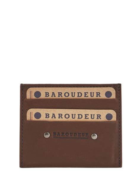 Porte-cartes Cuir Foures Marron baroudeur 939