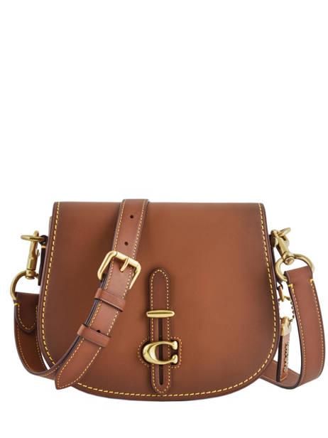 Sac Bandoulière Saddle Bag Cuir Coach Marron saddle bag 54202