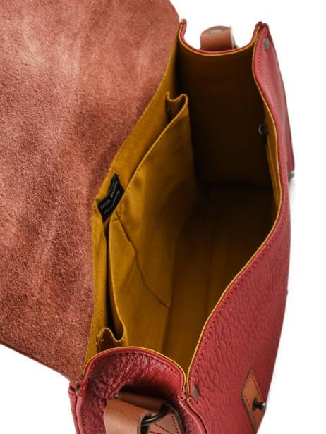 Cross Body Tas Vintage Leder Paul marius Rood vintage INDISPEN ander zicht 4