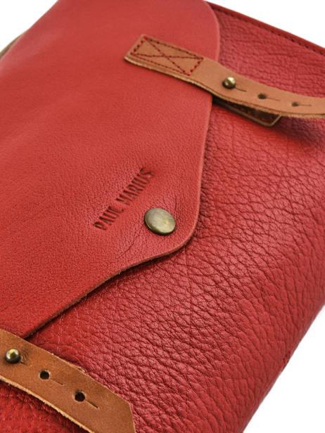 Cross Body Tas Vintage Leder Paul marius Rood vintage INDISPEN ander zicht 1