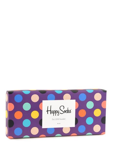 Coffret Cadeau 4 Paires De Chaussettes Pour Lui Happy socks Noir pack XBDO09 vue secondaire 1