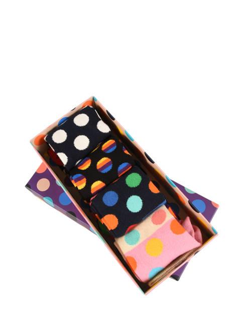Coffret Cadeau 4 Paires De Chaussettes Pour Lui Happy socks Noir pack XBDO09