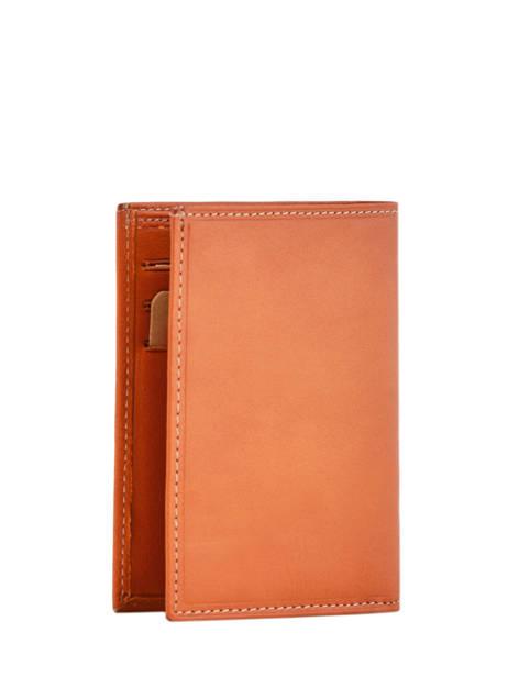 Porte-papiers Cuir Katana Orange vachette gras 853090 vue secondaire 2