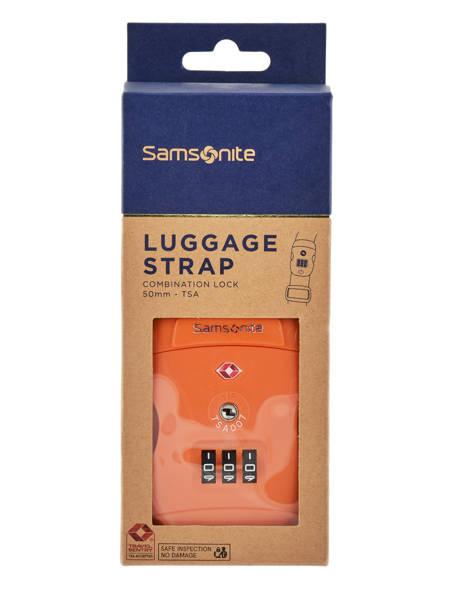 Sangle à Bagage Samsonite Orange accessoires C01057 vue secondaire 1