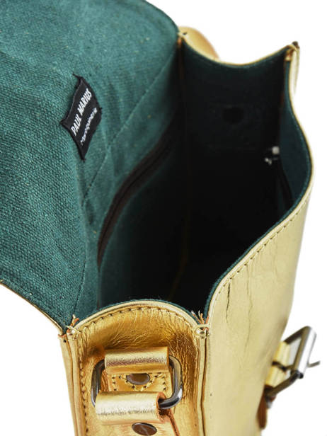 Cross Body Tas Vintage Leder Paul marius Goud vintage ESSENTIE ander zicht 4