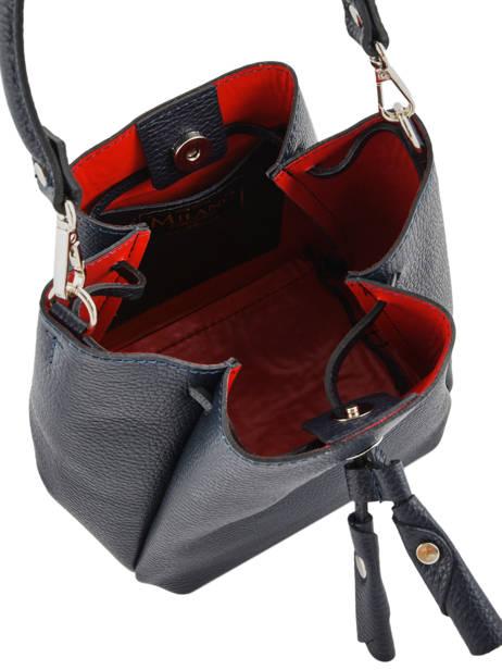 Mini Bucket Bag Caviar Leder Milano Blauw caviar CA19042 ander zicht 4