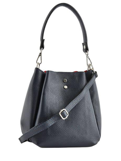 Mini Bucket Bag Caviar Leder Milano Blauw caviar CA19042 ander zicht 3
