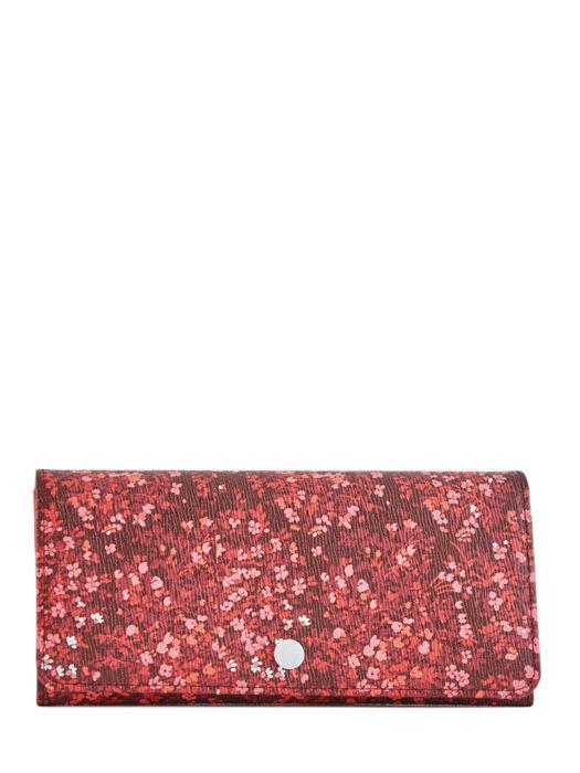 Longchamp Le pliage fleurs Portefeuille Rouge