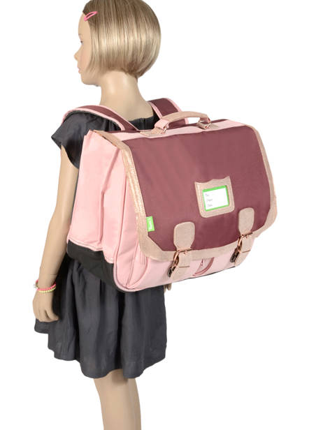 Cartable 2 Compartiments Tann's Multicolore fantaisie fille 41284 vue secondaire 3