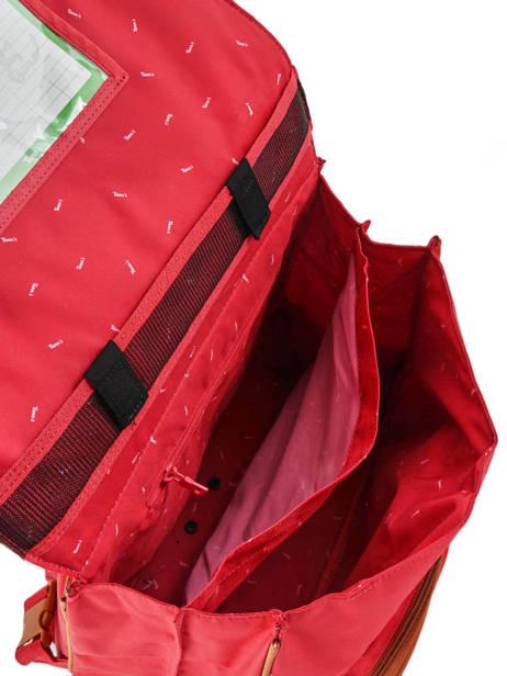 Cartable à Roulettes Avec Trousse Assortie Tann's Rouge les unis 42117 vue secondaire 5