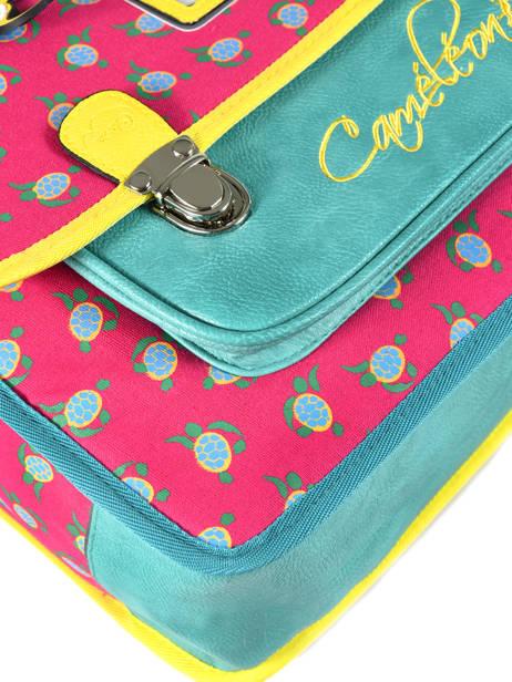 Boekentas Kind 2 Compartimenten Cameleon Roze retro RET-CA35 ander zicht 1