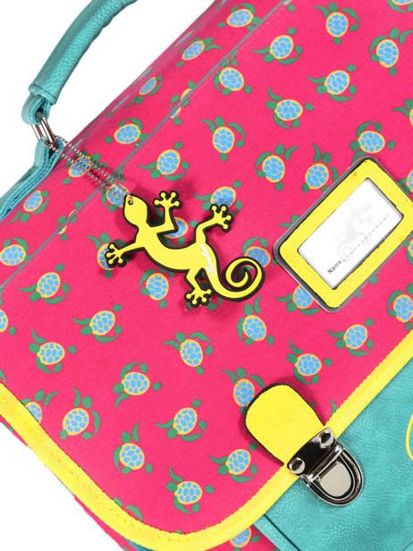 Boekentas Kind 2 Compartimenten Cameleon Roze retro RET-CA35 ander zicht 2