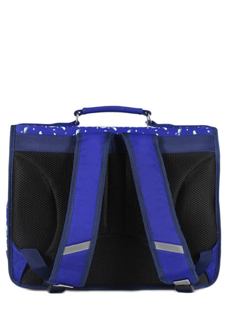 Cartable Enfant 2 Compartiments Cameleon Bleu retro RET-CA38 vue secondaire 5