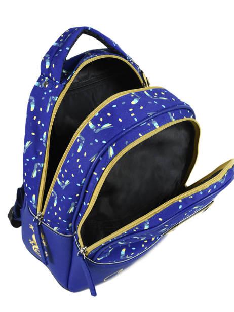 Sac à Dos Enfant 2 Compartiments Cameleon Bleu retro RET-SD31 vue secondaire 5