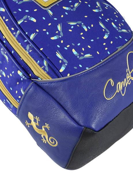 Sac à Dos Enfant 2 Compartiments Cameleon Bleu retro RET-SD31 vue secondaire 1
