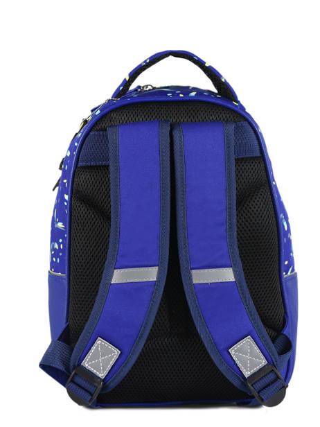 Sac à Dos Enfant 2 Compartiments Cameleon Bleu retro RET-SD31 vue secondaire 4