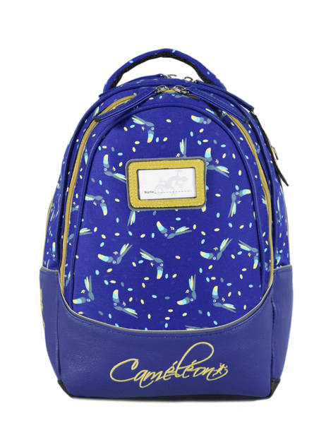 Sac à Dos Enfant 2 Compartiments Cameleon Bleu retro RET-SD31