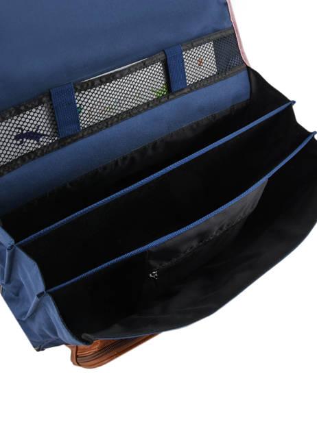 Cartable Fille 3 Compartiments Cameleon Bleu vintage print girl VIG-CA41 vue secondaire 5