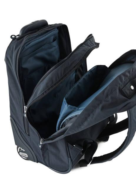 Sac à Dos à Roulettes 2 Compartiments + Pc 15'' Kipling Bleu back to school I4468 vue secondaire 2