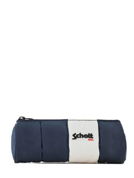 Pennenzak 1 Compartiment Schott Blauw downbag 11712