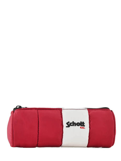 Trousse 1 Compartiment Schott Rouge downbag 11714