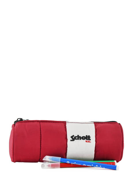 Trousse 1 Compartiment Schott Rouge downbag 11714 vue secondaire 1