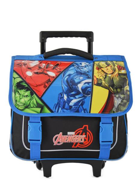 Boekentas Op Wieltjes 1 Compartiment Avengers Veelkleurig quadri AVNI18