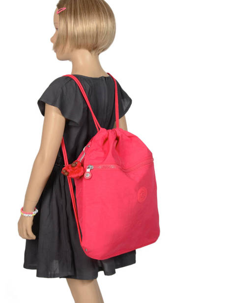 Sporttas Kipling Roze back to school 9487 ander zicht 1