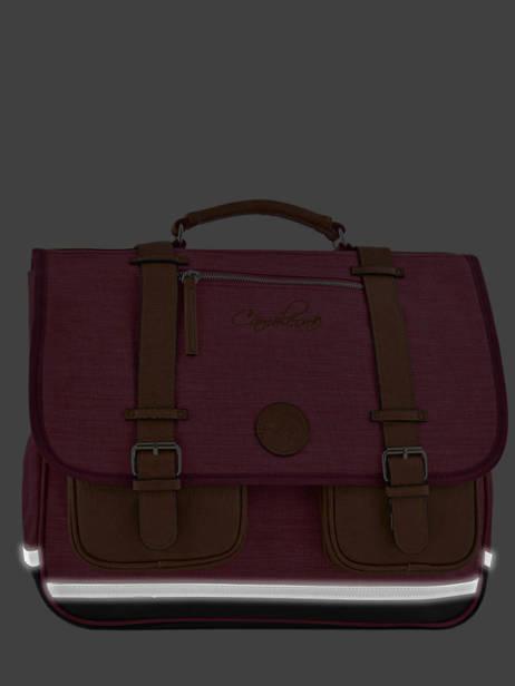 Boekentas Kind 2 Compartimenten Cameleon Roze vintage chine VIN-CA38 ander zicht 6