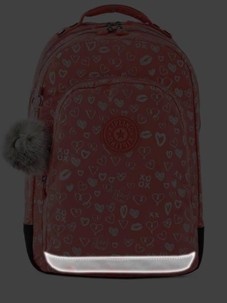 Rugzak 2 Compartimenten + Pc 15'' Kipling Roze back to school I4053 ander zicht 6