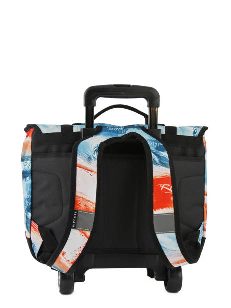 Cartable à Roulettes 2 Compartiments Rip curl Rouge photo script BBPNN4 vue secondaire 3