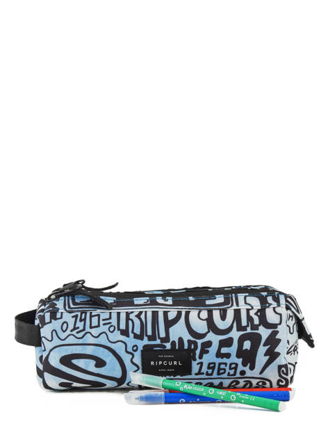 Pennenzak 2 Compartimenten Rip curl Blauw cover up BUTDC4 ander zicht 1