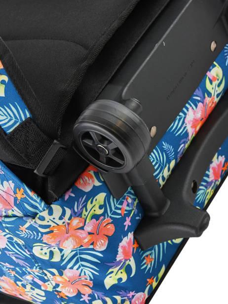 Boekentas Op Wieltjes 2 Compartimenten Rip curl Blauw toucan flora LBPQA4 ander zicht 1