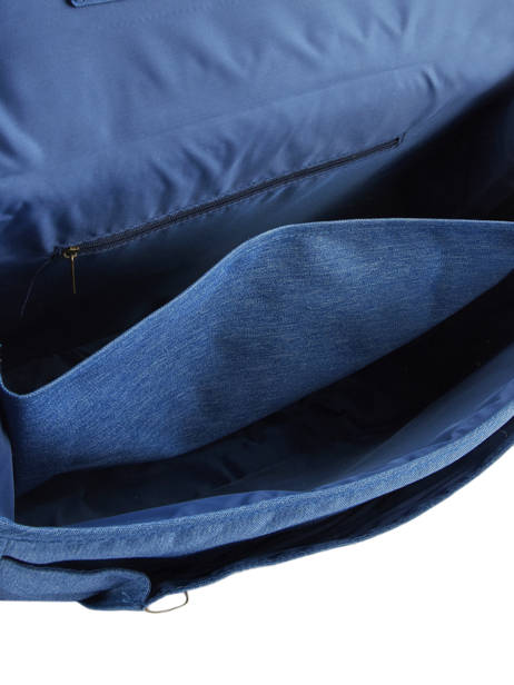 Boekentas 2 Compartimenten Met Bijhorende Pennenzak Poids plume Blauw skate SKA1938 ander zicht 5