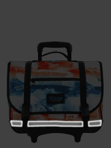 Cartable à Roulettes 2 Compartiments Rip curl Rouge photo script BBPNN4 vue secondaire 5