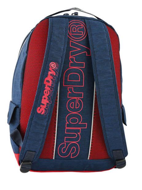Sac à Dos 1 Compartiment Superdry Bleu backpack men M91801MU vue secondaire 4