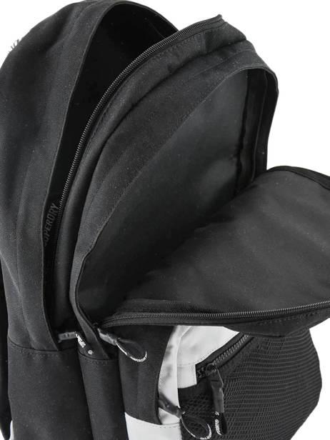 Sac à Dos Hayden 2 Compartiments Superdry Noir backpack woomen G91903MT vue secondaire 4