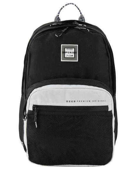 Sac à Dos Hayden 2 Compartiments Superdry Noir backpack woomen G91903MT