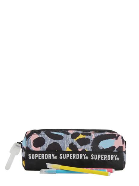 Trousse 1 Compartiment Superdry Multicolore accessories woomen G98900JT vue secondaire 1