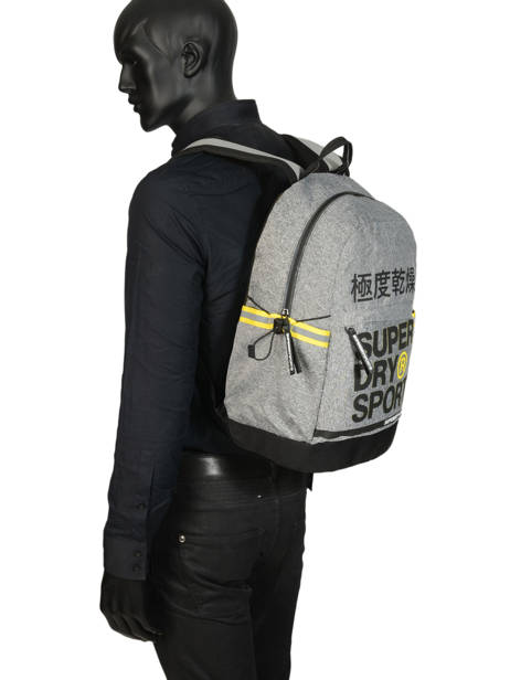 Sac à Dos 1 Compartiment Superdry Gris backpack men MS4100JU vue secondaire 3