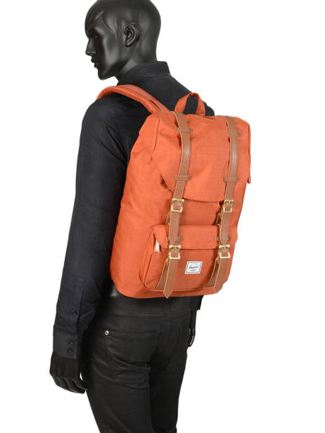 Sac à Dos 1 Compartiment + Pc 13'' Herschel Orange classics 10020 vue secondaire 3