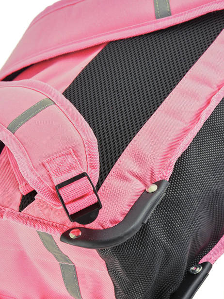 Cartable 2 Compartiments Réversible Pol fox Rose fille F-CA38R vue secondaire 1